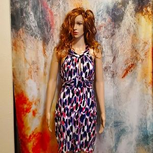 Guess Sexy Abstract Animal Print Halter Dress M
